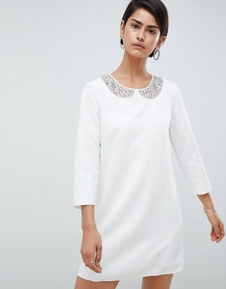 French Connection Eliza Smock Neck Shift Dress