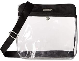 Baggallini Legacy Stadium Bags Clear Pocket Crossbody (Black) Cross Body Handbags