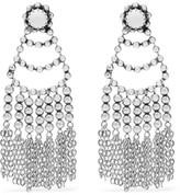 Dannijo Dolci Tasseled Beaded Silver-plated Earrings - one size