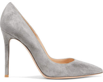Gianvito Rossi 105 Suede Pumps - Gray
