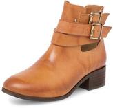 Dorothy Perkins Tan peekaboo buckle boots
