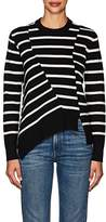Proenza Schouler Women's Striped Cotton-Blend Asymmetric Sweater