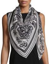 Alexander McQueen Paisley Printed Silk Scarf