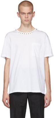 Valentino White Neck Studs T-Shirt