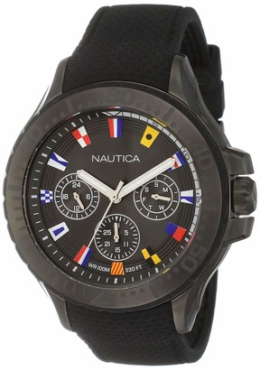 Nautica Men's Auckland Stainless Steel Quartz Sport Watch with Silicone Strap Grey 22 (Model: NAPAUC007)