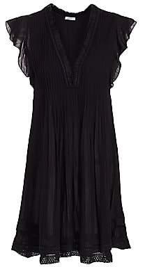 Poupette St Barth Women's Sasha Flutter Sleeve Mini Dress