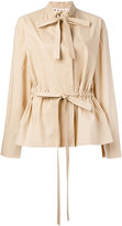 Marni pussy bow military blouse - women - Cotton - 40