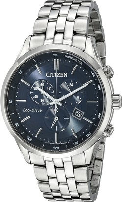 Citizen Men's Eco-Drive Chronograph Stainless Steel Watch with Date AT2141-52L