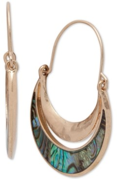 lonna & lilly Gold-Tone Stone Double-Row Drop Earrings