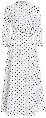 STAUD Daisy Polka Dot Shirtdress