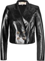 Emilio Pucci Leather Cropped Blazer