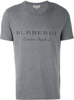 Burberry logo print T-shirt - men - Cotton/Polyester - XS