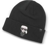 Karl Lagerfeld K/Ikonik Beanie Knit Hat