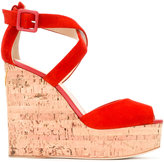 Giuseppe Zanotti Design wedge sandals - women - Leather/Suede - 36