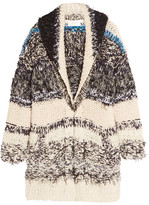 Chloé Oversized Chunky-knit Cotton-blend Cardigan - Cream