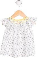 Jacadi Girls' Cap Sleeve Printed Top