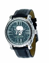 Colosseum Italico Men's ITCS02-F Black Marbleized Dial Leather Watch