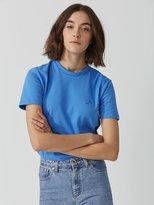Frank + Oak The Made in Canada Signature T-Shirt in Bright Blue