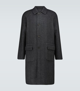 Lardini Reversible herringbone coat