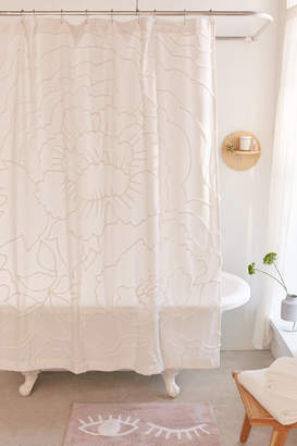 Urban Outfitters Margot Tufted Floral Shower Curtain