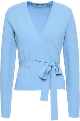 Diane von Furstenberg Stretch-knit Wrap Top