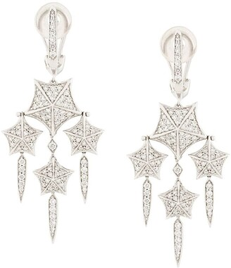 Stephen Webster 18kt White Gold And Diamond Chandelier Earrings