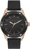 Sean John Men's Corsica Black Silicone Strap Watch 46mm