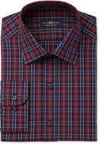 Club Room Men's Big & Tall Classic/Regular Fit Burgundy Moffat Dress Shirt, Only at Macy's