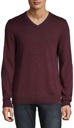 Perry Ellis V-Neck Long-Sleeve Sweater