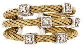 Charriol Two-Tone Diamond Cube Station Cable Ring