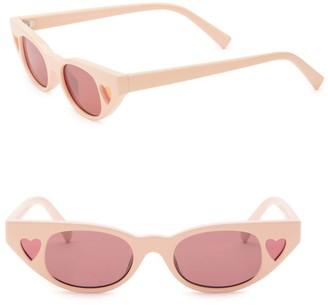 Le Specs x Adam Selman The Heartbreaker 56MM Cat Eye Sunglasses