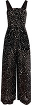 Diane von Furstenberg Printed Cotton And Silk-blend Jumpsuit - Black