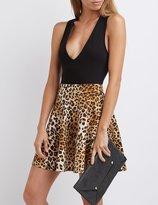 Charlotte Russe Leopard Skater Skirt