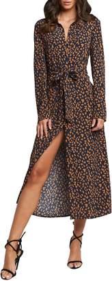 Bardot Leopard-Print Shirtdress