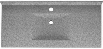 "Swan Contour Solid Surface 43"" Single Bathroom Vanity Top Top Finish: Gray Granite"