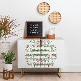 Deny Designs Geometric Maze Credenza