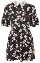Topshop Embellished collar tea dress