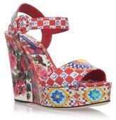 Dolce & Gabbana Bianca Carret Wedges