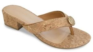 Lindsay Phillips Alexa Cork Heel Sandal Women's Shoes