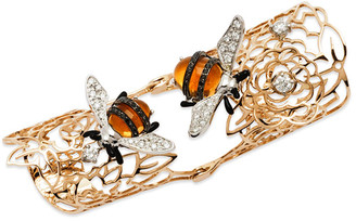 Bumble Bee Staurino Fratelli 18k Rose Gold Moresca Hinged Ring