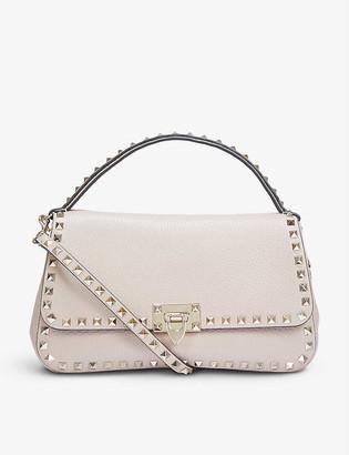 Valentino Rockstud medium leather top handle bag