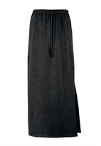 Long Black Knit Skirt - ShopStyle