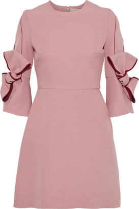 Roksanda Bow-embellished Cady Mini Dress