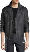Joe's Jeans Hunt Lamb Leather Motorcycle Jacket