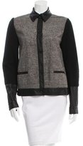 Alexander Wang Knit Leather-Paneled Jacket