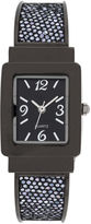 JCPenney FASHION WATCHES Womens Square Case Black Bangle Watch