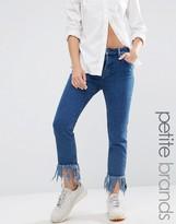 Waven Petite Extreme Frayed Hem Skinny Jean