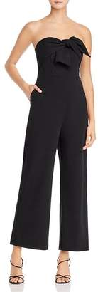 Sam Edelman Strapless Jumpsuit with Bow Detail