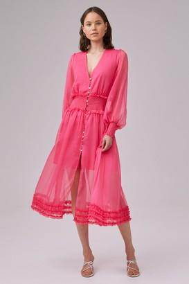 Keepsake MOONLIGHT MIDI DRESS pop pink