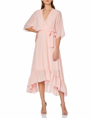 Yumi Women's Wrap Front High Low Dress Casual